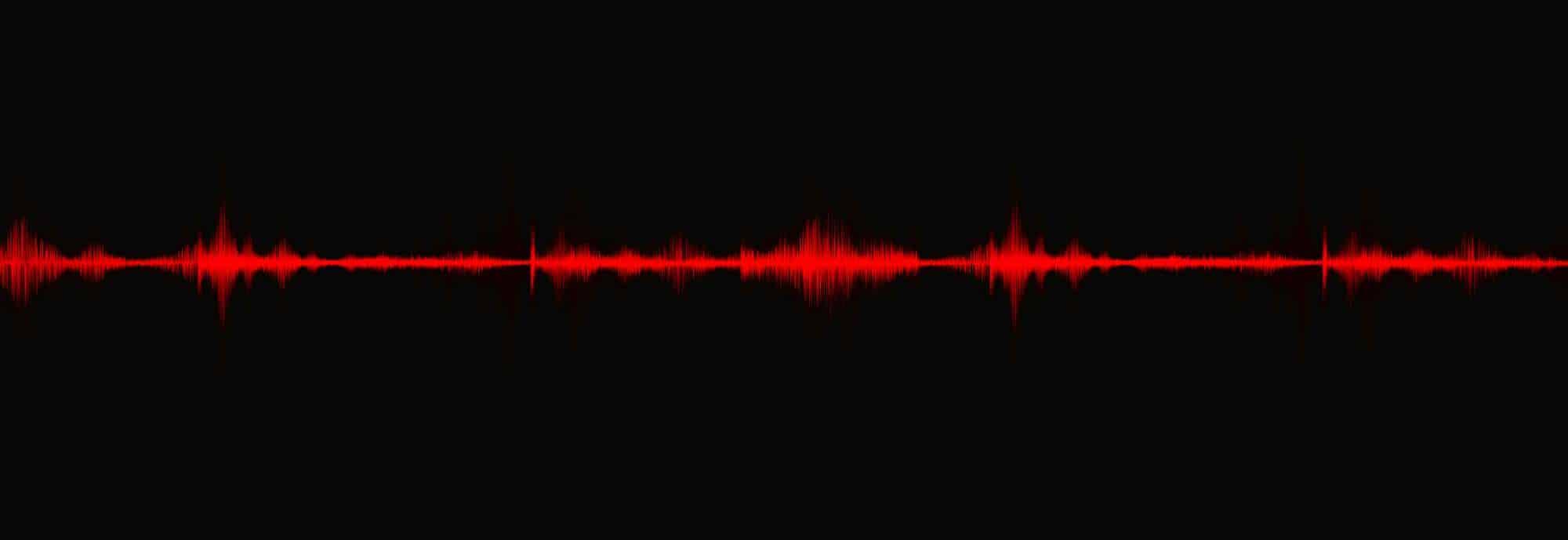 Red Digital Sound Wave